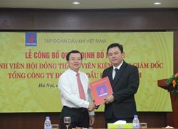 Bổ nhiệm Thành viên HĐTV kiêm Tổng Giám đốc Tổng Công ty Điện lực Dầu khí